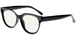 Blue Light Filter Progressive Readers Women - Oversize Multifocus Computer Glasses - Noline Trifocal Reading Glasses - Black M9110