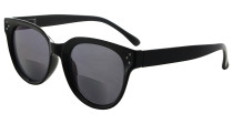 Bifocal Glasses for Women Reading under the Sun Stylish Bifocal Readers Tinted Lens - Black SBR9110