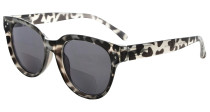 Bifocal Glasses for Women Reading under the Sun Stylish Bifocal Readers Tinted Lens - Grey Tortoise SBR9110