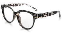 Bifocal Reading Glasses Women Stylish Bifocal Readers Clear Lens - Grey Tortoise BR9110