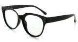 Bifocal Reading Glasses Women Stylish Bifocal Readers Clear Lens - Black BR9110