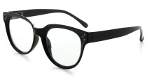 Bifocal Reading Glasses Women Stylish Bifocal Readers Clear Lens - Black BR9110