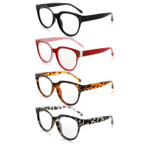 4-packing  Bifocal Reading Glasses Women Stylish Bifocal Readers Clear Lens BR9110