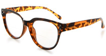 Bifocal Reading Glasses Women Stylish Bifocal Readers Clear Lens - Tortoise BR9110