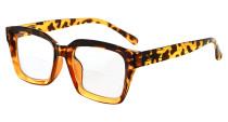 Bifocal Reading Glasses Women Stylish Bifocal Readers Clear Lens Oversize - Tortoise BR9106