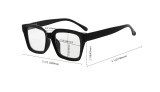 Bifocal Reading Glasses Women Stylish Bifocal Readers Clear Lens Oversize - Red BR9106