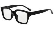 Bifocal Reading Glasses Women Stylish Bifocal Readers Clear Lens Oversize - Black BR9106