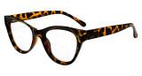Bifocal Reading Glasses Women Stylish Bifocal Readers Clear Lens Oversize Cat-eye Style - Tortoise BR9108