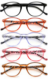 5-packing Reading Glasses Round Readers for Women Reading R9115B