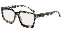 Multifocus Progressive Computer Readers Women - Noline Trifocal Reading Glasses Blue Light Filter Oversize Frame - Grey/Tortoise M2003
