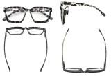 Bifocal Reading Glasses Women - Stylish Bifocal Readers Clear Lens Oversize Frame - Grey/Tortoise BR2003