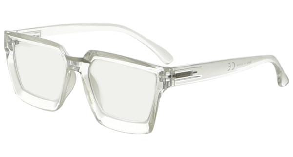 Multifocus Progressive Computer Readers Women - Noline Trifocal Reading Glasses Blue Light Filter Oversize Frame - Transparent M2003