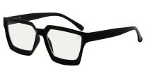 Multifocus Progressive Computer Readers Women - Noline Trifocal Reading Glasses Blue Light Filter Oversize Frame - Black M2003