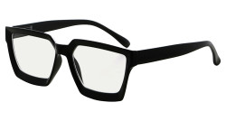 Multifocus Progressive Computer Readers Women - Noline Trifocal Reading Glasses Blue Light Filter Oversize Frame - Black M2003