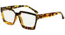 Multifocus Progressive Computer Readers Women - Noline Trifocal Reading Glasses Blue Light Filter Oversize Frame - Tortoise M2003