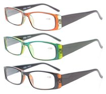 Reading Glasses Full-Frame 3 Pairs Mix Color for women 3PKR006