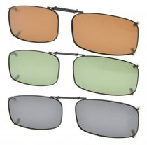 3-pack Clip-on Polarized Sunglasses 2 1/4×1 3/16 inch (54x30MM) C87-3pcs-Mix