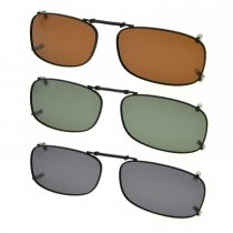 3-pack Clip-on Polarized Sunglasses 2 x1 1/8 inch (51×29MM) C85-3pc-Mix