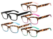 Reading Glasses Stylish Eyeglasses 5 Pairs Mix Color RT1802-5pc-Mix