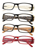 Reading Glasses 4 Pack Marble Pattern Arms Readers for Women R006