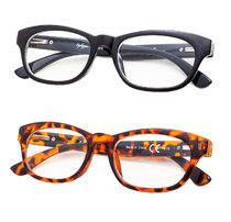 2-Pack Reading Glasses Stylish Spring Hinge Readers R120