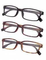 Reading Glasses 3-pack Rectangle Design Frame Reader R097-3pc-Mix