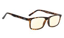 Computer Glasses UV Protection Tinted Lens Stylish Women Men Tortoise CG899
