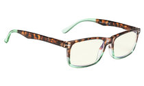 Computer Glasses UV Protection Tinted Lens Stylish Women Men Tortoise-Green CG899
