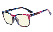 Blue Light Filter Computer Glasses for Women Floral UVRT1801