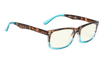 Readers UV Protection, Anti Glare Eyeglasses,Anti Blue Rays, Spring Hinges Computer Reading Glasses Transparent Blue CG899-6
