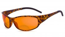 Blue Blocking Amber Bifocal Glasses for Sleep - Nighttime Readers - Special Orange Tinted Glasses Tortoise SGS080