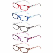 5 Pairs Fashion Ladies Reading Glasses Spring Hinge Pattern Design Readers Women