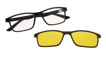 Reading Glasses with blue light block Photochromic Polarized Lens Clip on Black-Brown BSR137