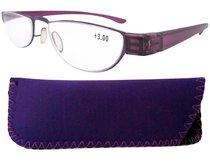 Reading Glasses Extremely Lightweight Sleek Comfortable Color Frame Readers Women Men Purple R11003