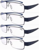 Reading Glasses 4-Pack Readers Women Men Dark Blue R11014