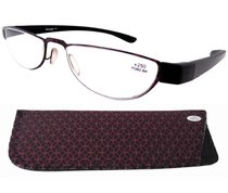 Reading Glasses Extremely Lightweight Sleek Comfortable Color Frame Readers Women Men Red-Black R11003