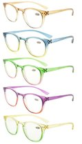 5 Pack Fashion Reading Glasses (One for each color) R144-Mix-5pcs