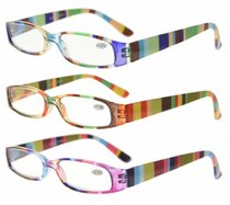 3 Pack Ladies Reading Glasses Smaller Readers Mix Color R906-Mix
