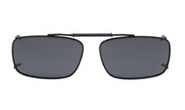 Metal frame Clip On Polarized Sunglasses 2 1/8 x1 5/16 inch (54×34MM) Grey C61