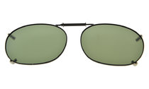 Metal Frame Rim Polarized Lens Clip On Sunglasses 2 1/16×1 3/8 inch (52x35MM) G15 C73