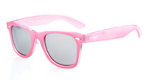 Sunglasses Polarized Classic 80's Vintage Pink/Silver Mirror S003-Polarized