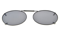 Metal Frame Rim Polarized Lens Clip On Sunglasses 1 11/16×1 3/16 inch (43x30MM) Grey C74