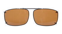 Clip On Polarized Sunglasses With Spring Draw Bar 2 1/4 x1 1/2 inch (58×38MM) Brown C60