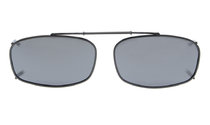 Metal Frame Polarized Lens Clip On Sunglasses 2 x1 1/4 inch (52×32 MM) Grey C62