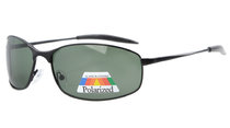 Sunglasses Polarized Metal Frame Fishing Golf Cycling Flying Outdoor Black S15005-Polarized