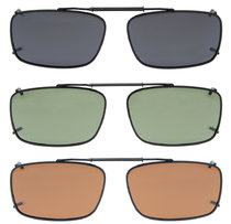 3-pack Clip-on Polarized Sunglasses 2 1/8 x1 5/16 inch (54×34MM) C61-3pcs-Mix