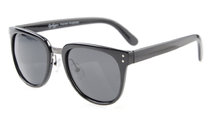 Sunglasses Polarized Retro Oversize Black/Grey Lens S012-Polarized