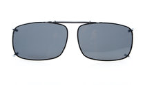 Clip On Polarized Sunglasses With Spring Draw Bar 2 1/4 x1 1/2 inch (58×38MM) Grey C60
