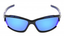 Sunglasses Polarized Polycarbonate TR90 Unbreakable Sport Black/Blue Mirror TH7007
