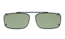 Metal frame Clip On Polarized Sunglasses 2 1/8 x1 5/16 inch (54×34MM) G15 C61